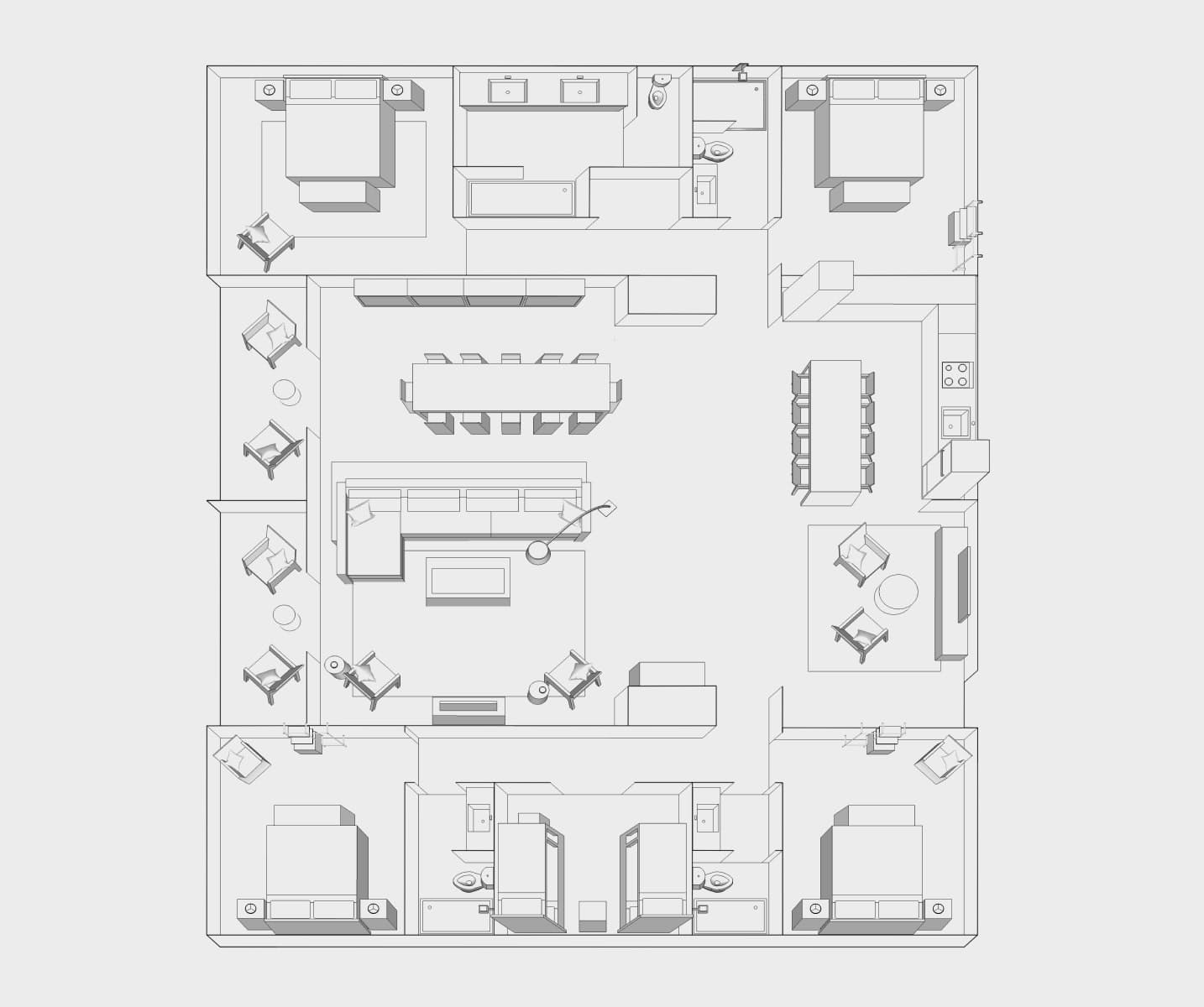 5 Bedroom Floor Plan Image