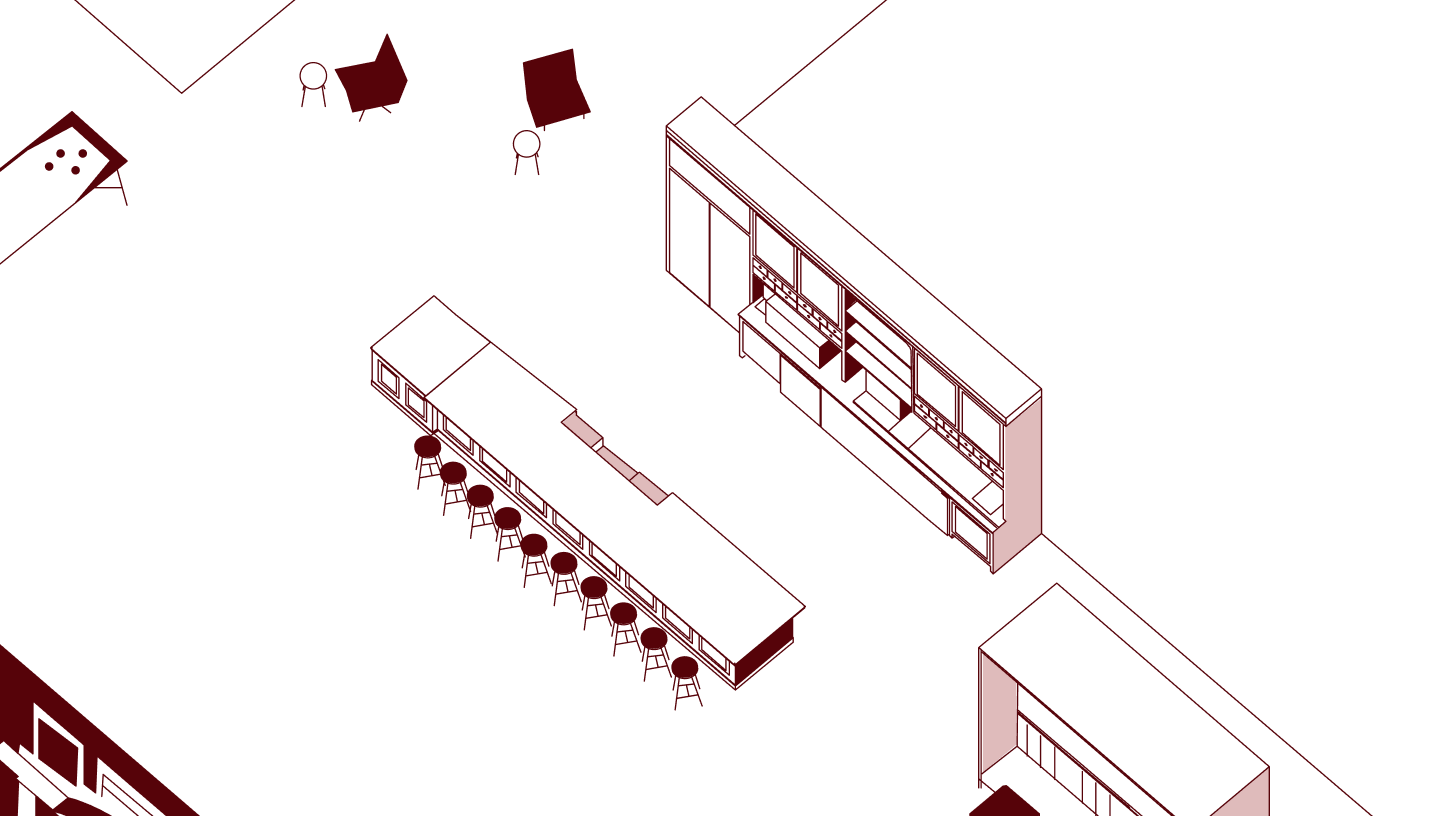 Illustration of hotel interior