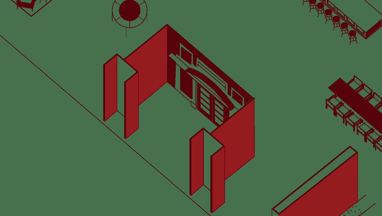 Illustration of hotel interior