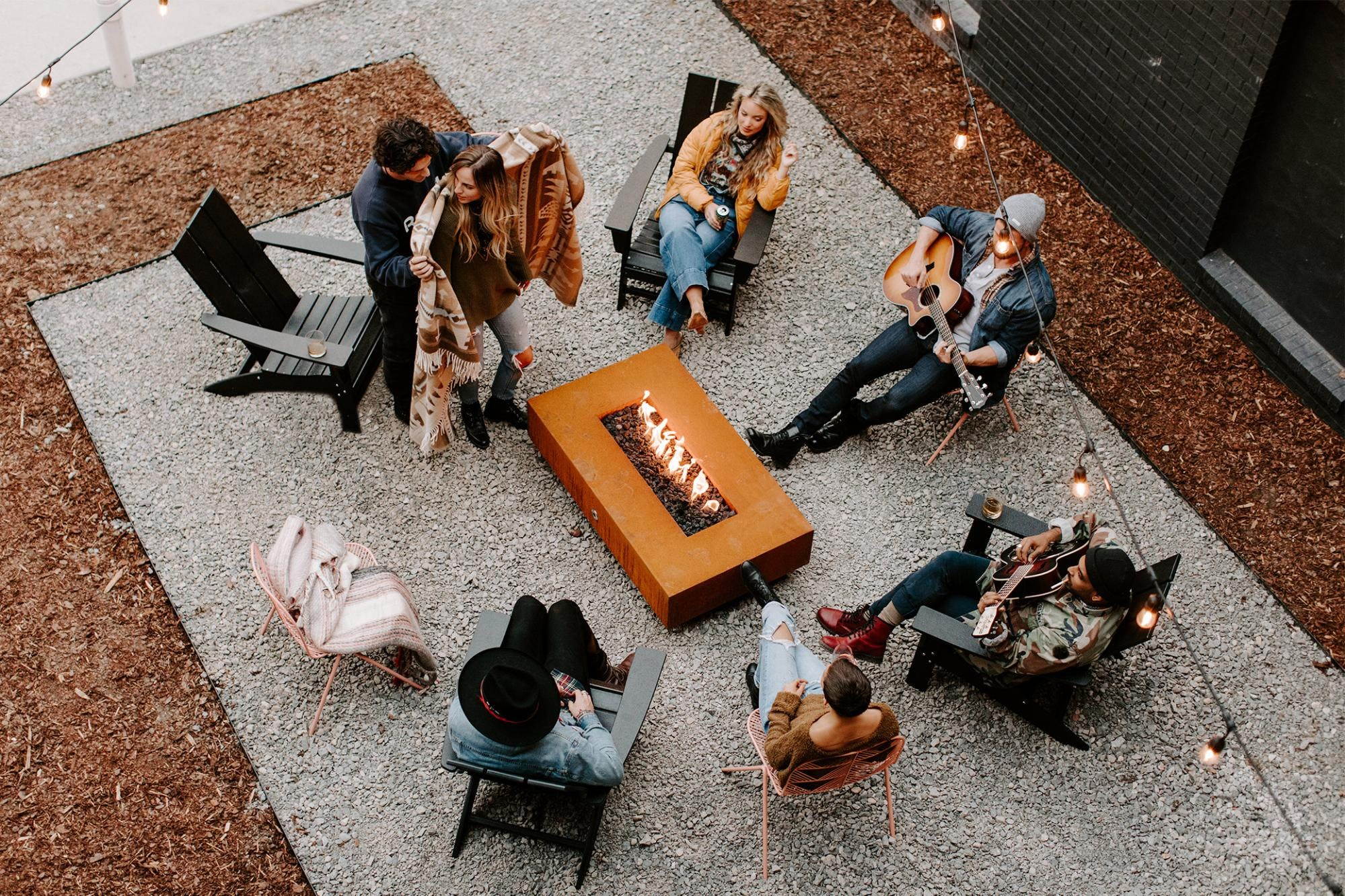 People around firepit